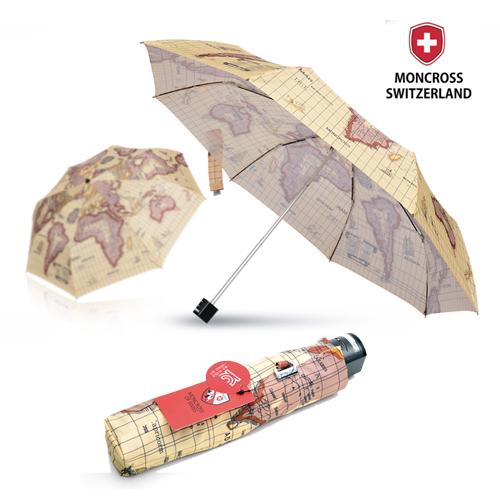 몽크로스 3단 고지도 패턴 수동 우산
