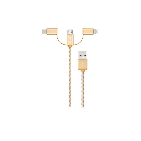 엑토 3IN1 충전&데이터 케이블 USB-33