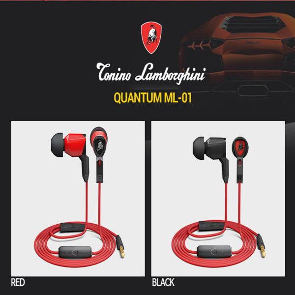 람보르기니 이어폰 퀀텀 ML-01/레드,블랙