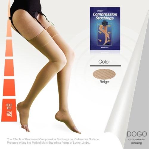 [도고302]도고 렉스타 압박스타킹 밴드형(무실리콘-발트임)불투명 단단재질 고강압(30-40mmHg)