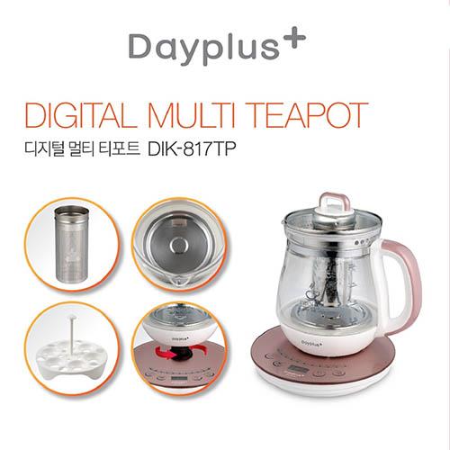 데이플러스 1.7L디지털 티포트 전기 주전자 DIK-817TP