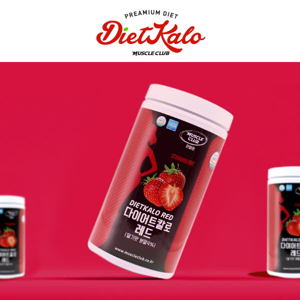 [머슬클럽] 다이어트 칼로 레드(600g) 딸기 / 쉐이컵 포함