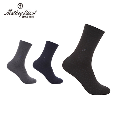 [Mathey-Tissot] 스퀘어 신사 양말 2족세트 블랙,네이비,그레이 택2