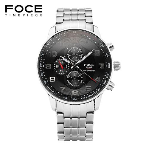 [FOCE]남성 메탈 손목시계 FM6301BK