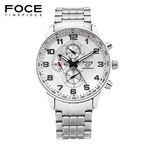 [FOCE]남성 메탈 손목시계 FM6301WH