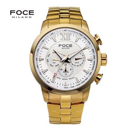 [FOCE]남성 메탈 손목시계 FM914GGM101
