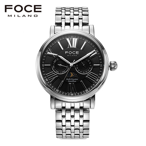 [FOCE]남성 메탈 손목시계 FM1707BK