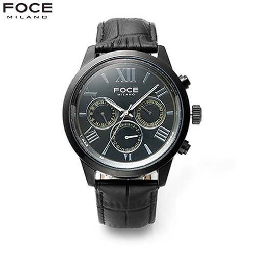 [FOCE]남성 가죽 손목시계 FM7502BBK