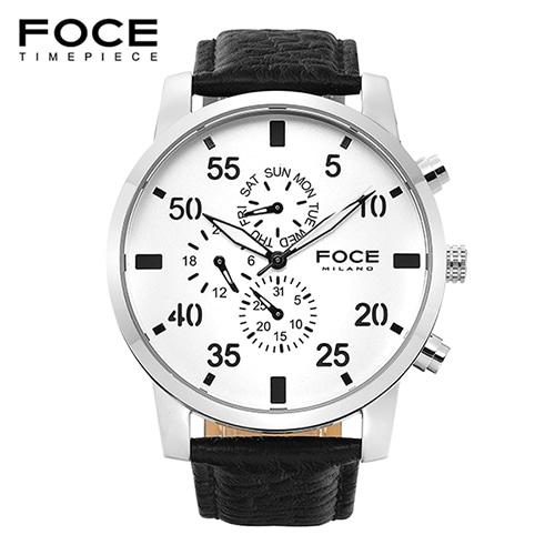 [FOCE]남성 가죽 손목시계 FM1502SW1