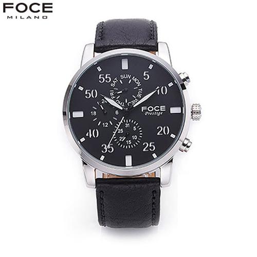 [FOCE]남성 가죽 손목시계 FM1502S1