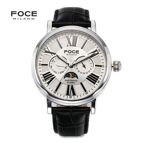 [FOCE]남성 가죽 손목시계 FM1707L-WH