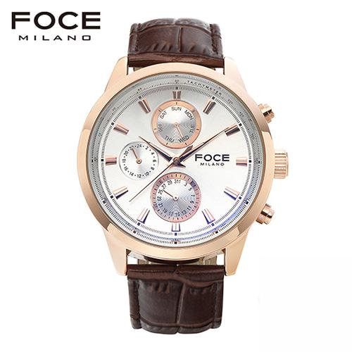 [FOCE]남성 가죽 손목시계 FM7504BR