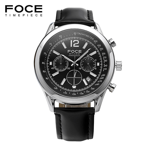 [FOCE]남성 가죽 손목시계 FM7511L-BK
