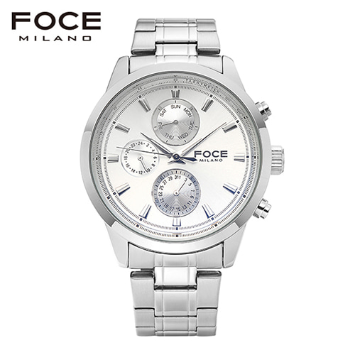 [FOCE]남성 메탈 손목시계 FM7503WH
