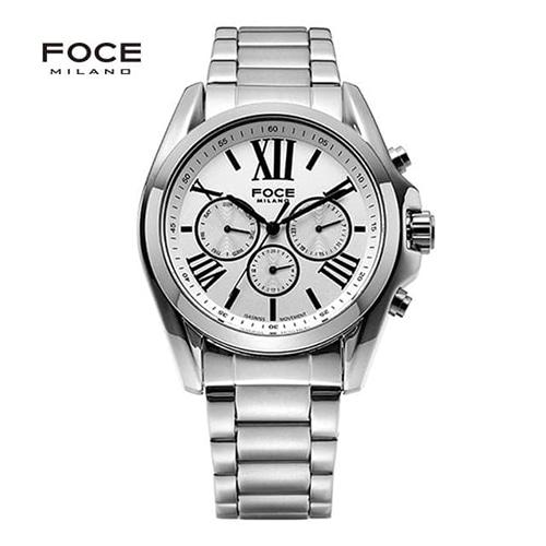 [FOCE]남성 메탈 손목시계 FM7701WH