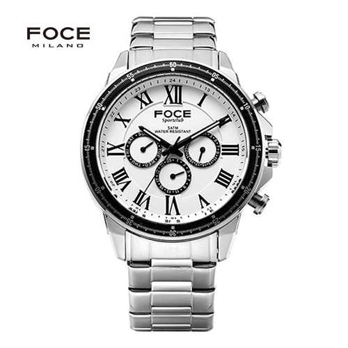 [FOCE]남성 메탈 손목시계 FM5207WH