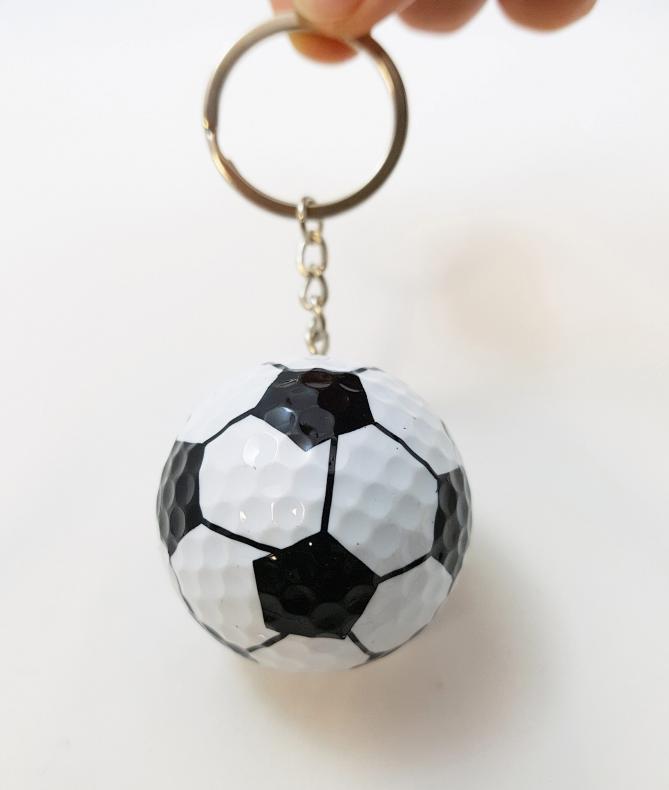 스포츠 골프공 열쇠고리 (축구공모양)