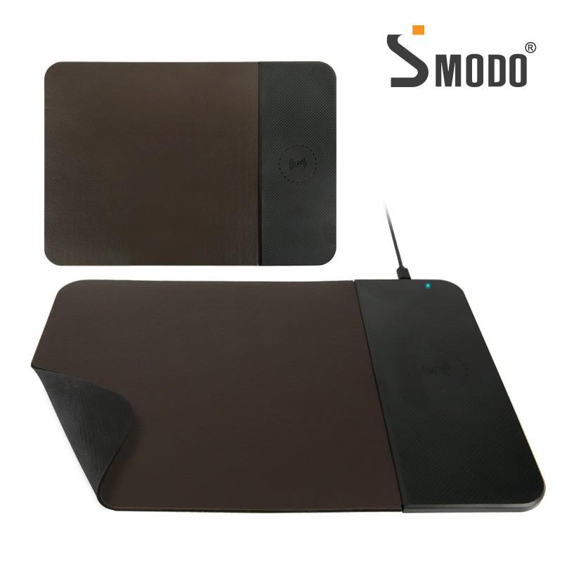 [에스모도] 스마트폰 무선충전 가죽 마우스패드 SMODO-207