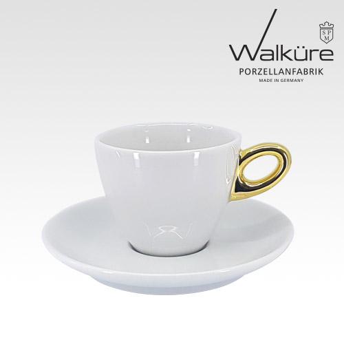 [독일 발퀴레]알타 450/018 카푸치노 커피잔세트_handle golden