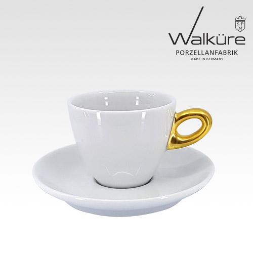[독일 발퀴레]알타 450/018 카푸치노 커피잔세트_handle matt golden