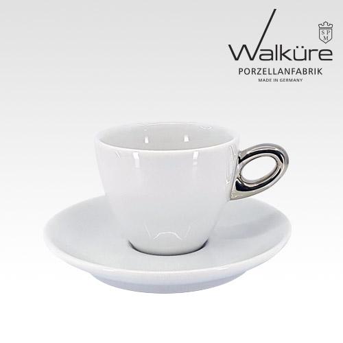 [독일 발퀴레]알타 450/018 카푸치노 커피잔세트_handle platinum