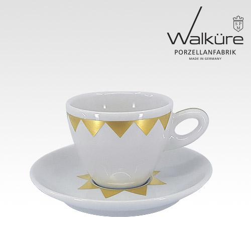 [독일 발퀴레]알타 450/018 카푸치노 커피잔세트_Stella golden