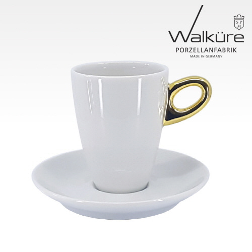 [독일 발퀴레]알타 450/025 아메리카노 커피잔세트_handle golden