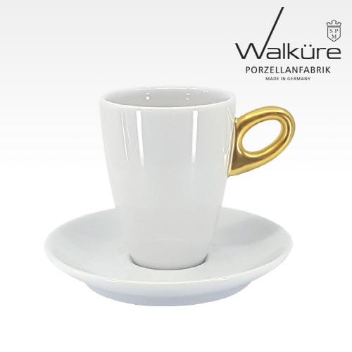 [독일 발퀴레]알타 450/025 아메리카노 커피잔세트_handle matt golden