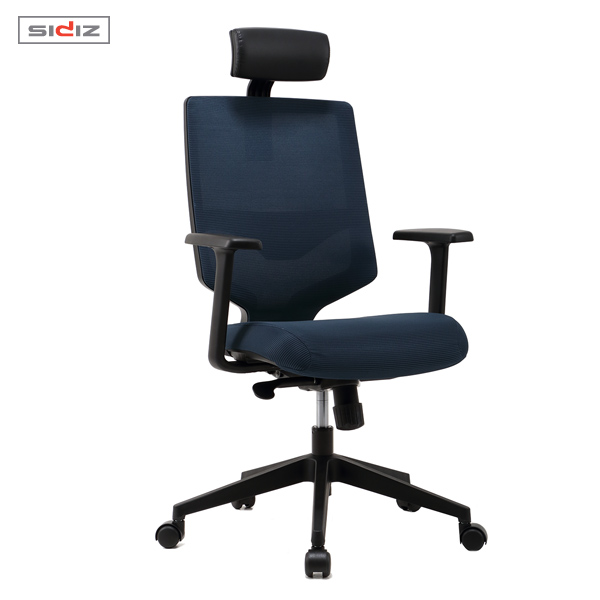 시디즈 스트라이프 메쉬 의자 NEW T350HFL 블랙쉘 (요추지지대 포함)