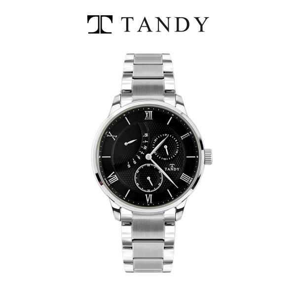 탠디 멀티메탈 손목시계 (요일/날짜/초침) T-3671 SBS