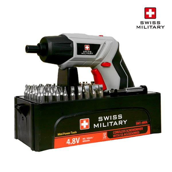 [스위스밀리터리] 4.8V 전동드라이버 (고급형) SMT-480A
