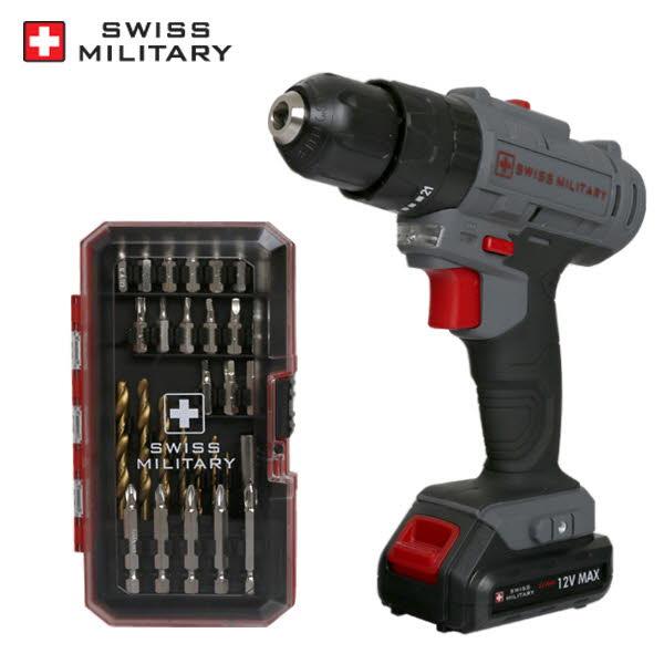 [스위스밀리터리] 리튬이온 12V 전동 햄머드릴 SL-12