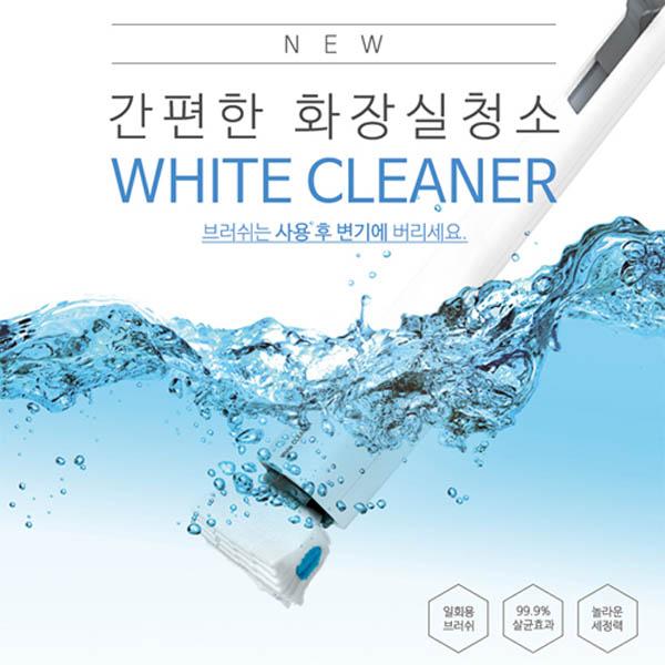 ONU 화이트 크리너 화장실 청소기 핸들1개+리필1팩(8장)