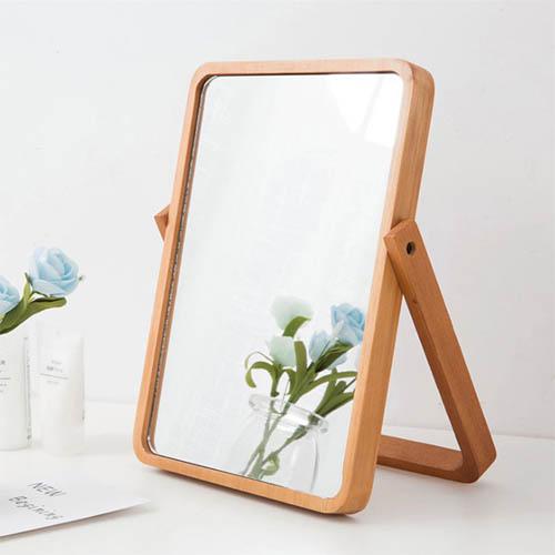 우드 탁상거울 스탠드거울 화장대거울