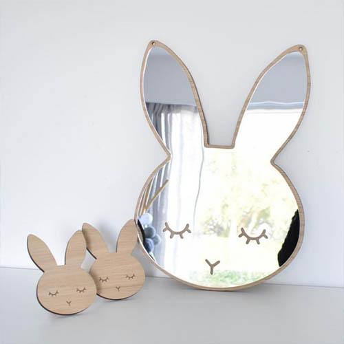 아크릴 안전 토끼 아기거울 아기방 꾸미기