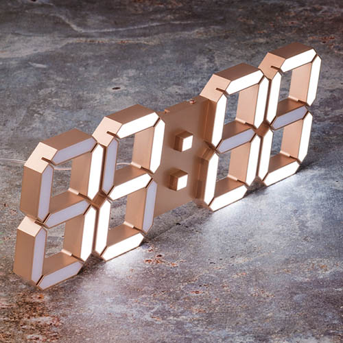 국산 루나리스 골드에디션 3D LED 벽시계 LG전구 38cm