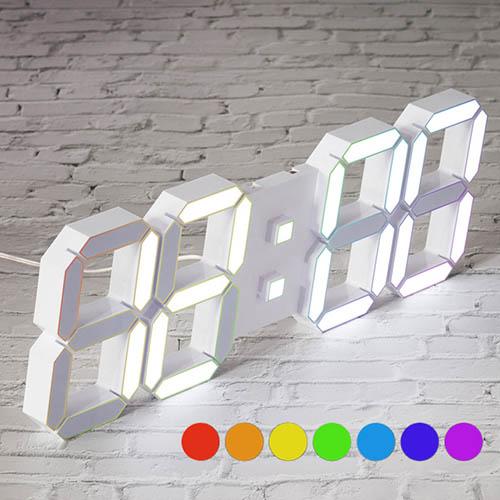 국산 루나리스 프라임 3D LED 벽시계 LG전구 38cm