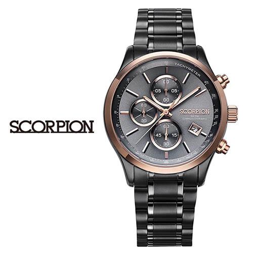 스콜피온 남성 메탈 손목시계 SP3347M-GRG
