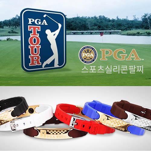 PGA TOUR 스포츠 밴드_실버 (밴드색상_블랙,화이트,레드,블루,브라운,바이올렛)