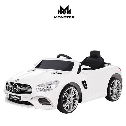 몬스터토이즈 Benz SL400 프리미엄 유아전동차 아기자동차 / 화이트, 레드