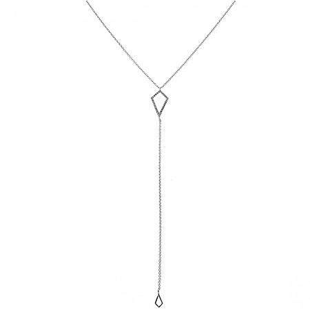 [미미쥬얼리]긴 마름모 목걸이NBK04-0002