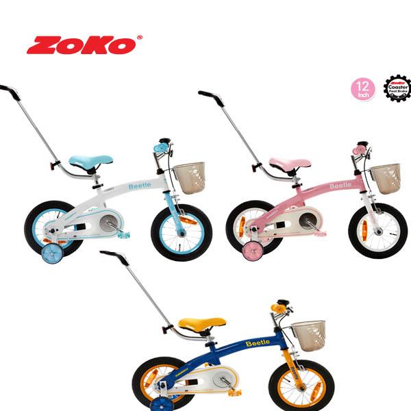 (19년 신제품)ZOKO 조코 비틀 12인치 체인자전거+보호자밀대