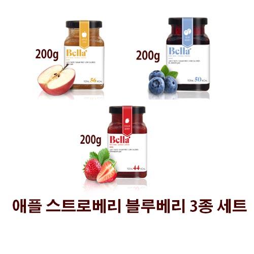 벨라잼 스트로베리 애플 블루베리 3종 선물세트