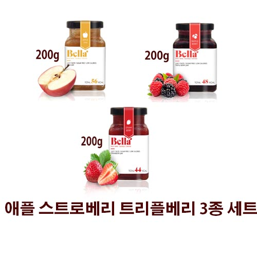벨라잼 스트로베리 애플 트리플베리 3종 선물세트