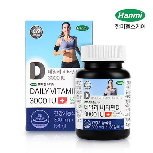 한미 데일리 비타민D 3000IU 6개월분 (300mg X 180정)