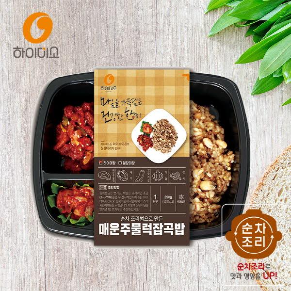 하이미소 도시락 매운주물럭잡곡밥-하이미랑 250g 3개