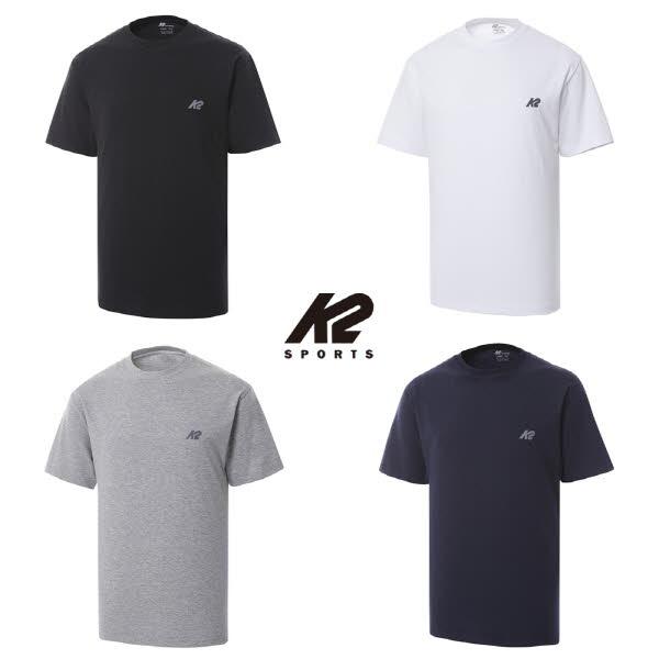 K2 Sports 라운드 면 반팔 티셔츠 스카이