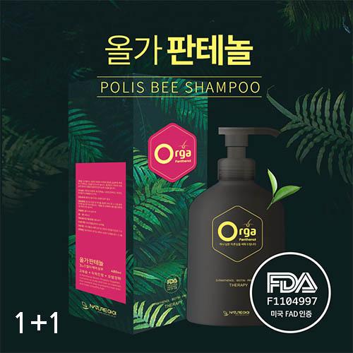 올가판테놀 폴리스비 천연 탈모 완화 샴푸 300ml + 300ml