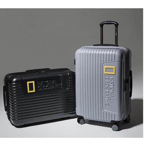 내셔널지오그래픽 24인치 캐리어 세트(24인치. 목베개. 백인백)/티타늄, 블랙/NG S6602F