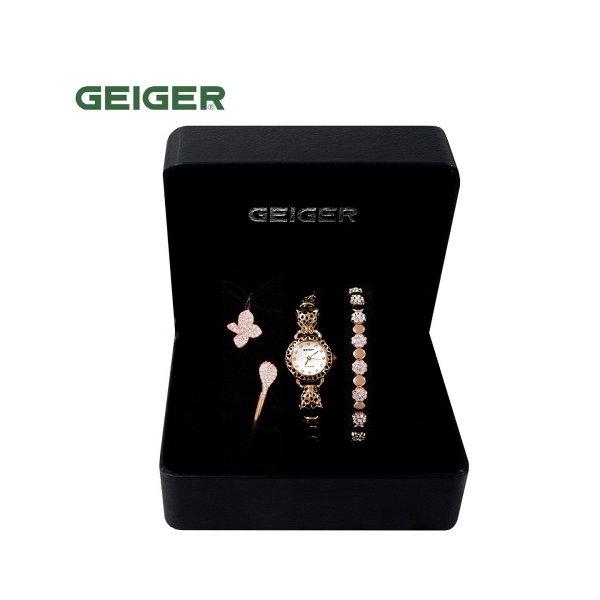 [GEIGER] SET 가이거 여성 메탈 시계 GE61194_RG